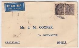 India - First Flight Bombay-Bhuj 1937 - Poste Aérienne