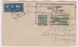 India - First Flight, Demonstation Flight, Trivandrum Bombay 1935 - Poste Aérienne