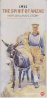 New Zealand 2015 Brochure About Anzac - Evelyn Brooke - Card From Egypt - Sapper And Donkey - Maheno - Chunuk Bair - New Zealand