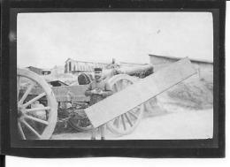 Soldat Français Devant Un Canon De 120mm Artillerie 1 Photo 1914-1918 14-18 Ww1 Wk1 - War, Military
