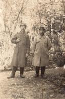 4734. CPA PHOTO GUERRE 14 18. WW1. DEUX POILUS NUMERO 99 SUR LE COL - Guerre 1914-18