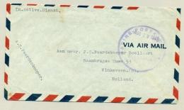 Nederlands Indië - 1946 - Stempel Marine Postkantoor Soerabaja Op LP-brief Naar Vinkeveen - Nederlands-Indië
