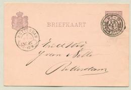 Nederland - 1895 - Grootrond Dubbelring Stempel 's Gravenhage Naar Rotterdam - Poststempels/ Marcofilie
