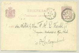Nederland - 1894 - Grootrond Dubbelring Stempel Amsterdam Naar Den Bosch - Poststempels/ Marcofilie