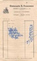 """04663 """"AVIGLIANA (TO) - FRAZ. MORTERA (ALT. M. 664) CONTO DEL RISTORANTE S. FRANCESCO - CONIUGI CUGNO  """"  DOCUM. ORIGIN. - Italia"""