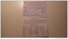 Ticket Embarquement De Saun à To Hong Kong - Inschepingsbiljetten