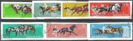 """Ungarn 1961: Michel-Nr. 1776-1782 B (ungezähnt) """"Pferdesport"""" O (Michel € 20.00) - Pferde"""
