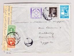 Türkei Stamboul 1942 Zensurierter Brief Nach Ramla Mit Egypter Strafporto Marken - 1921-... République