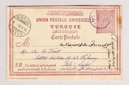 Türkei UPU Ganzsache 20Pa 1899 Gesendet Von Radoviste Mazedonien Nach Basel CH - 1858-1921 Empire Ottoman