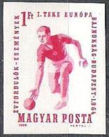 """Ungarn 1964: Michel-Nr. 2041 B (ungezähnt) """"EM Im Kegeln"""" ** MNH (Michel € 2.50)"""