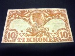 DANEMARK 10 Kroner 1942 , Pick KM N ° 31 L, DENMARK , - Danemark