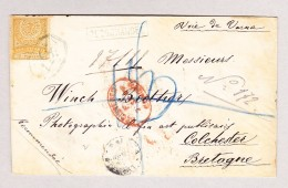 "Türkei 1887 R-Brief Konstantinopel 2Piastres Nach Colchester GB ""Voie De Varna"" - 1837-1914 Smyrna"
