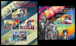 TOGO 2014 - The Rolling Stones - YT 4036-9 + BF873; CV = 31 € - Togo (1960-...)