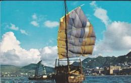 ASIE---HONG KONG----the Harbor----PAN AM  Airline---voir 2 Scans - China (Hongkong)