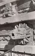 Real Photo - Mexico Mexique Osuna Teotihuacan - Templo De Quetzalcóatl - 2 Scans - Mexico