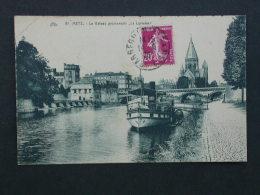Ref5426 WA CPA Le Bateau Promenade La Lorraine - Metz N°81 - 1936 éditeur Fischer - Altri