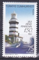 AC - TURKEY STAMP  -  150th ANNIVERSARY OF SILE LIGHTHOUSE MNH 01 MAY 2010 - Neufs