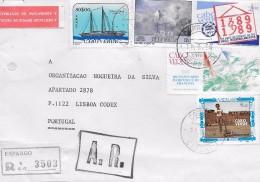 TIMBRES - STAMPS - LETTRE RECOMMANDÉ POUR PORTUGAL - CAP VERT / CAPE VERDE - TIMBRES DIVERS - RARE - Cape Verde