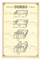 Feuillet Publicitaire Bilingue - Forteresses DURSO - Jouet - 100% ORIGINALE- Figurine (b187) - Publicités