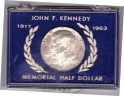 UNITED STATES OF AMERICA - MEMORIAL HALF DOLLAR - ANNO 1966 - JOHN F. KENNEDY - 1917 - 1963 - SILVER - ORIGINAL PACKET - - Monnaies