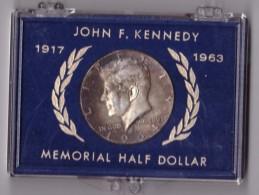 UNITED STATES OF AMERICA - MEMORIAL HALF DOLLAR - ANNO 1964 - JOHN F. KENNEDY - 1917 - 1963 - SILVER - ORIGINAL PACKET - - Monete