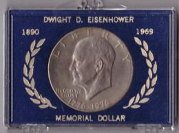 UNITED STATES OF AMERICA - ONE DOLLAR - DWIGHT D. EISENHOWER - 1890-1969 - MEMORIAL DOLLAR - LIBERTY - SILVER - ARGENTO - Monete