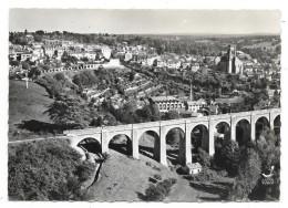 Cpsm: 87 BELLAC - Le Viaduc - Vue Aérienne  (plan Rare)  1958  N° 5 - Bellac
