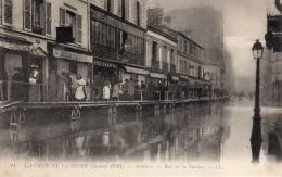 ASNIERES (75) - Les Inondations De Janvier 1910 - Rue De La Station - Asnieres Sur Seine