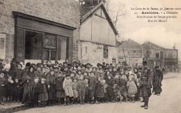 ASNIERES (75) - Les Inondations De Janvier 1910 - 4 Chemins - Distribution De Soupe Gratuite - Asnieres Sur Seine