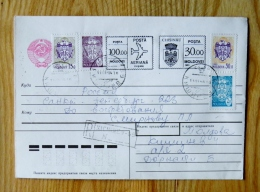 Cover Sent From Moldova 1994 Coat Of Arms Special Rubber Cancel Mixed - Moldavia