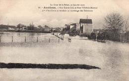 ASNIERES (75) - Les Inondations De Janvier 1910 - Rue Emile Zola Et Rue Villebois-Mareuil - Asnieres Sur Seine