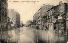 ASNIERES (75) - Les Inondations De Janvier 1910 - Le Boulevard Voltaire - Asnieres Sur Seine