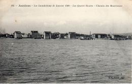 ASNIERES (75) - Les Inondations De Janvier 1910 - Les  Quatre Routes - Chemin Des Mourinoux - Asnieres Sur Seine
