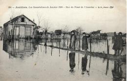ASNIERES (75) - Les Inondations De Janvier 1910 - Rue Du Fossé De L'Aumône - Asnieres Sur Seine