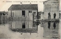 ASNIERES (75) - Les Inondations De Janvier 1910 - Rue Des Bas - Asnieres Sur Seine