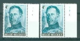 BELGIE - OBP Nr 1704 - Koning Albert I - PLAATNUMMER 1/2 - MNH** - 1971-1980