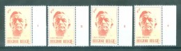 BELGIE - OBP Nr 1690 - Louis Pierard - PLAATNUMMER 1/4 - MNH** - 1971-1980