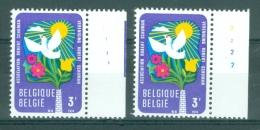 BELGIE - OBP Nr 1707 - Leefmilieu - PLAATNUMMER 1/2 - MNH** - 1971-1980