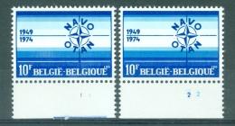 BELGIE - OBP Nr 1712 - NAVO - PLAATNUMMER 1/2 - MNH** - 1971-1980