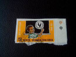RARE Kenya, Uganda & Tanzania KUT 1971 25th Anniversary Of UNICEF LETTRE RECOMMANDEE STAMPS ON PAPER COVER USED SEAL - Kenya, Ouganda & Tanzanie
