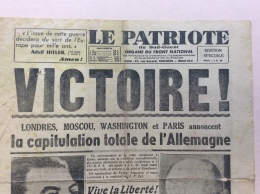 JOURNAL 8 MAI 1945 : LE PATRIOTE . VICTOIRE ! 4 PAGES - 1939-45