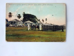 Carte Postale Ancienne : BELIZE , BRITISH HONDURAS: Inspection Of British Honduras Volunteer Force , In 1908 - Belize
