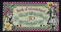 "Spielgeld ""ALICE IM WUNDERLAND"" 50 Units, Training, Education, Play Money, 130 X 70 Mm, RRR, UNC - Coins & Banknotes"