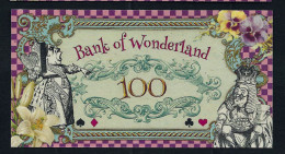 "Spielgeld ""ALICE IM WUNDERLAND"" 100 Units, Training, Education, Play Money, 130 X 70 Mm, RRR, UNC - Münzen & Banknoten"