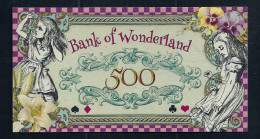 "Spielgeld ""ALICE IM WUNDERLAND"" 500 Units, Training, Education, Play Money, 130 X 70 Mm, RRR, UNC - Coins & Banknotes"