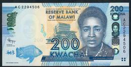 MALAWI  P60a  200  KWACHA   2012    UNC. - Malawi