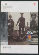 Canada 2013 Princess Of Wales Own Regiment Booklet, (Mint NH), Various - Uniforms - Stamps - Stamp Booklets - Nuovi