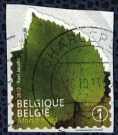 Belgique 2012 Oblitéré Used Feuilles D´Arbres Morus Nigra Mûrier Noir - Belgique