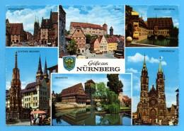 Nürnberg - Mehrbildkarte 29  Version Rand Geriffelt - Nuernberg