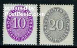 Germany, Empire 1930 On Service 2v, Mint NH - Germany